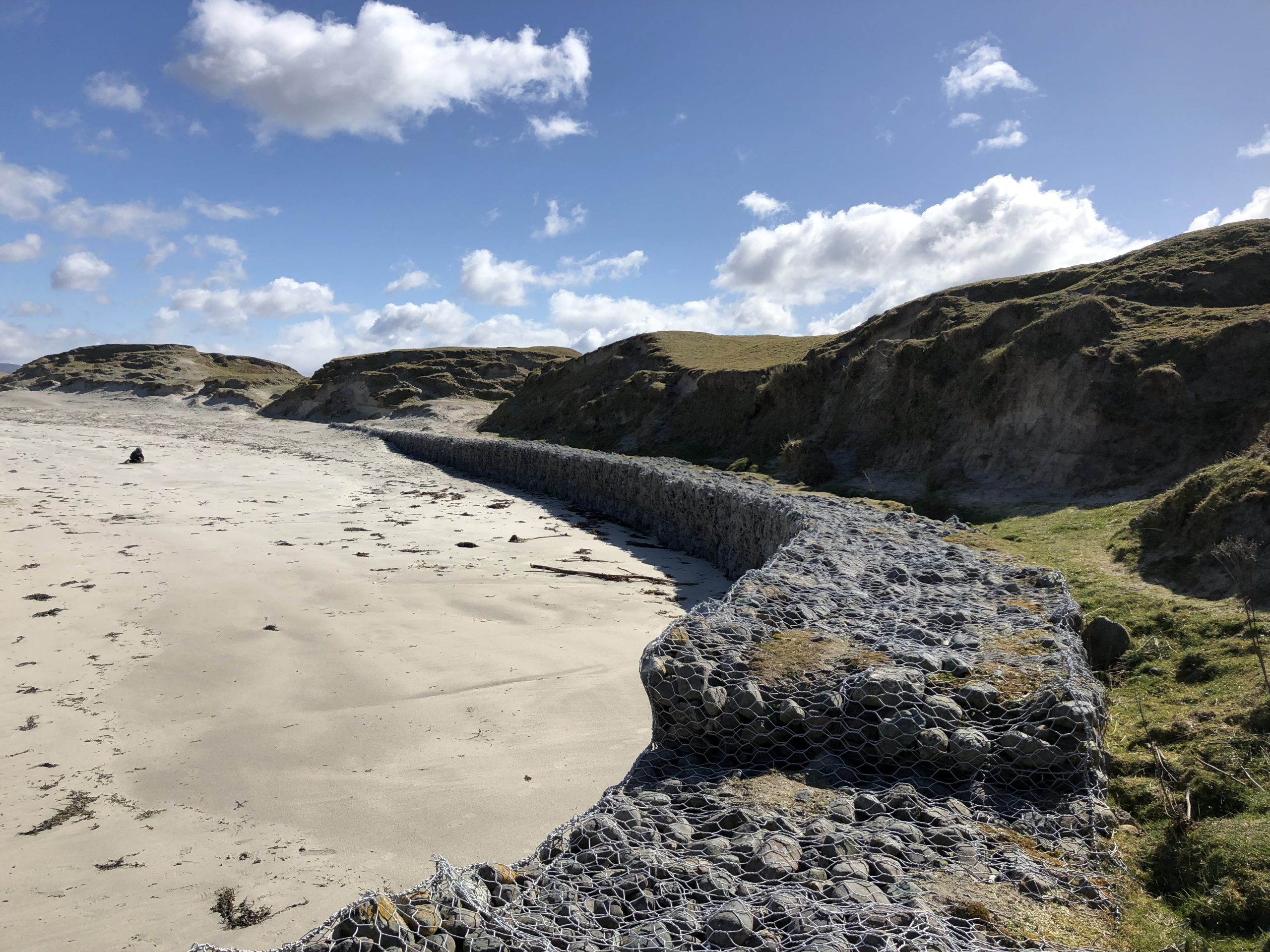 beachside rocks and sand